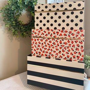 NWT Kate Spade Nesting Storage Box Set